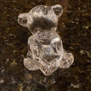 Waterford Crystal Baby Bear with Alphabet Block